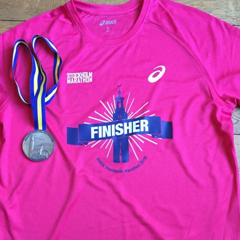 Finisher Shirt, Asics, Stockholm Marathon