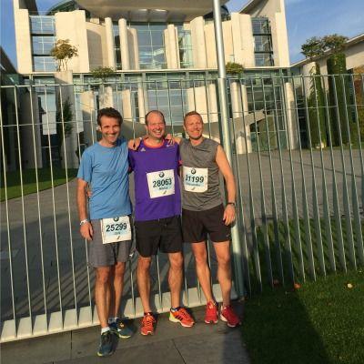 Gute Laune vorm Start des Berlin Marathon 2016